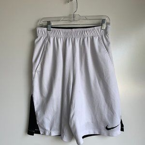 NIKE Dri-Fit Hyperspeed White Athletic Shorts MED